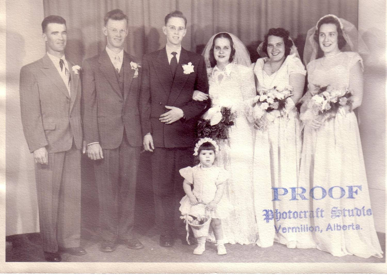 wedding picture: Ken Holte and Marjorie West
